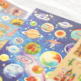 Nekoni Licensed Fantastic Planet Galaxy Gold Foiled Stickers