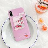 Squeeze It! Fruity Milk Liquid Floating Silicone Phone Case For Iphone