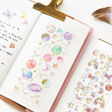 Fantastic Galaxy, Unicorn, Planet, Fairy Tale Resin Crystal Clear Stickers