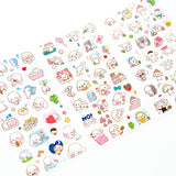 Happy Big Ear Dog Stickers, A Set! 6 Different Sheets Included!