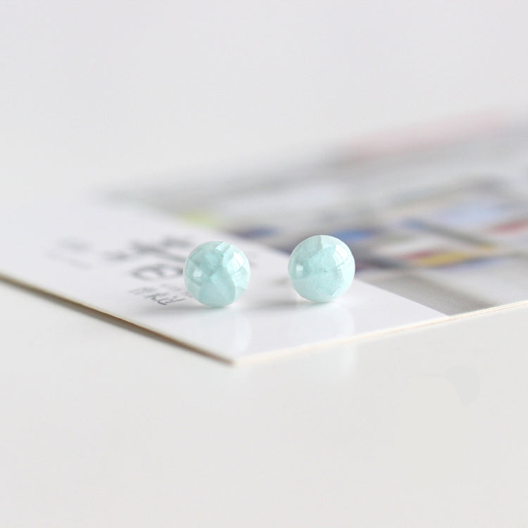 Mini Ice Cracking Pattern Shaped Polymer Clay Earrings