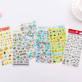 Japan Licensed Bear and Panda Cartoon Gold Foiled Stickers