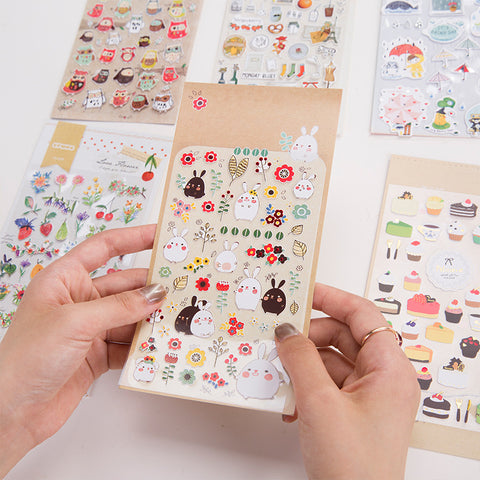 Cute Animal and Friends Gold Foiled Stickers