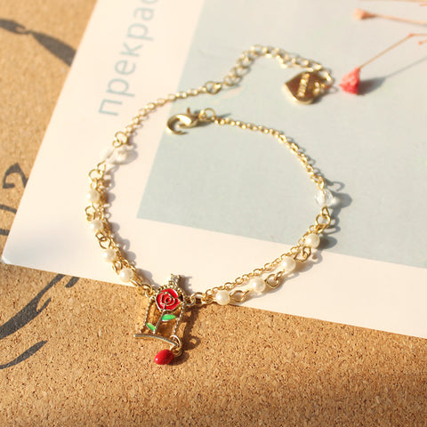 Fairy Incredible Rose Pearly Bracelet