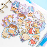 Japan Nekoni Licensed Kawaii Little Animals Stickers