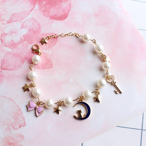 Sailor Moon Themed Night Cat Bracelet