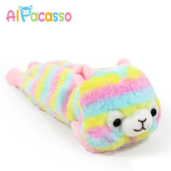 Amuse FLUFFY Rainbow Alpaca Plush Pencil Pen Case