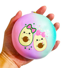 【Store Exclusive】 JUMBO Avocado Galaxy Squishy Bun, SCENTED, Slow Rising!