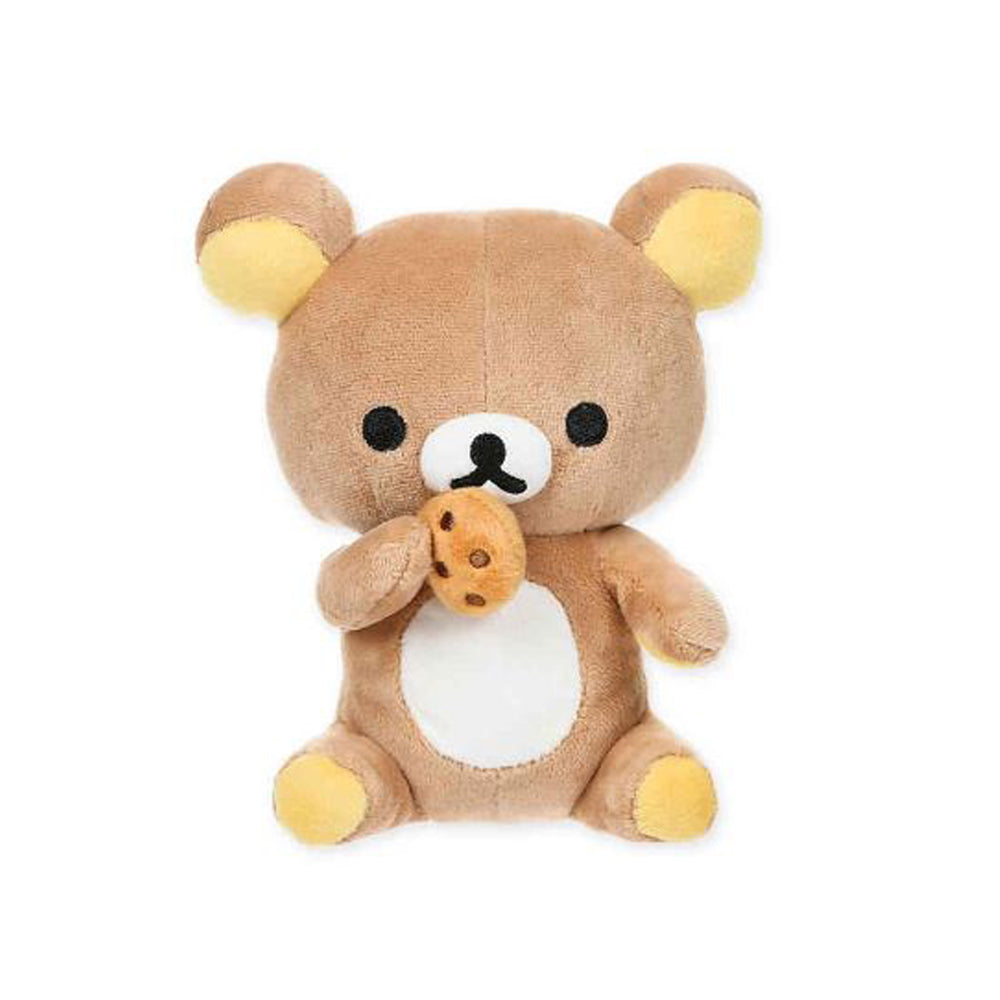 Rilakkuma™ Bear Eating a Cookie Plush By San-X, SMALL Size!