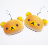 Cute Bear Head Bun Squishy Charm