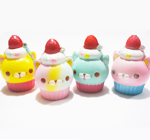 Amuse Licensed Kitty Rainbow Cupcake Scented Slow Rising Squishy Charm