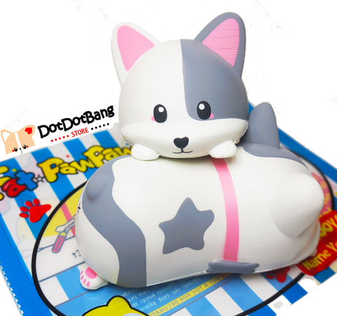 【Special Offer, New Edition】FatPawPaw TWO-FACE Zooya Corgi Slow Rising Squishy
