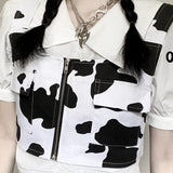 Cow Pocket Vest Crop Top