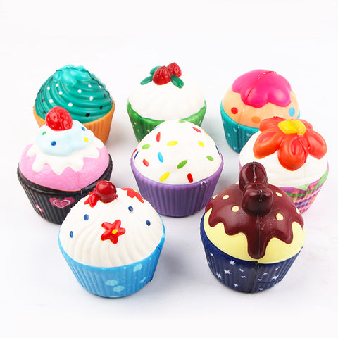【Free with Order $75+】Cute Cupcake Squishy, Multiple Design!
