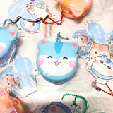 SCENTED! Popularbox Licensed Mini Poli Cream Macaron Slow Rising Squishy Charm