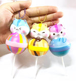 Popularboxes Licensed Poli Lollipop Slow Rising Squishy Charm