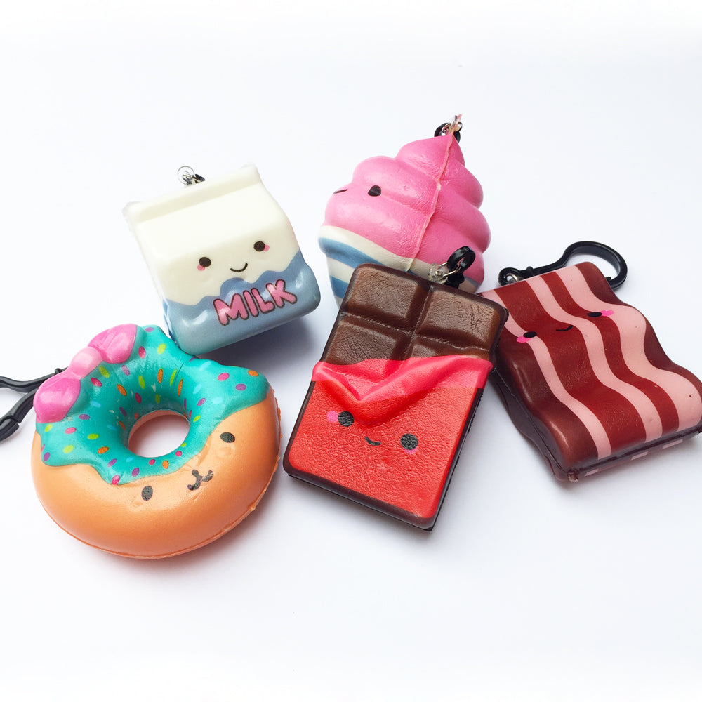 Kawaii Food Series Squishy Key Chain Charm, Chocolate Cookie SCENTED!