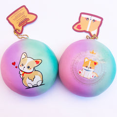 JUMBO Mascot Corgi Galaxy Squishy Bun, SCENTED, Slow Rising! Licensed By DotDotBang Store