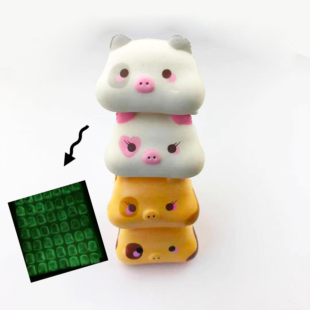 Glow In the Dark! Creamiicandy Stack Stack Ghost Marshmellii Piggy Squishy