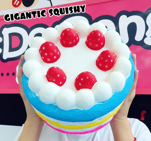 GIGANTIC Strawberry Marshmallow Cake Scented Squishy, BIGGEST Squishy Ever!