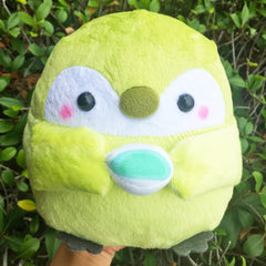 JUMBO Size! Licensed MATCHA Green Tea Koupen Chan Penguin FLUFFY Plush