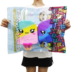 So HUGE! Gigantic Kawaii Rainbow Galaxy Ice Cream Popsicle Squishy, 11 Inch Long!