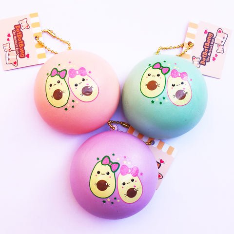 【Store Exclusive】SHIMMERY Bun! Medium Pearly Avocado Squishy Bun, SCENTED, Slow Rising!