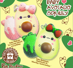 FatPawPaw Mini Avocado SCENTED Squishy, Extra Charm Included!