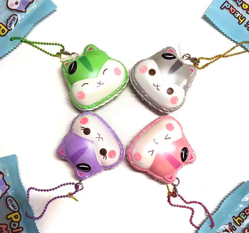 MINI SIZE! Poli Head Macaron SHIMMER Slow Rising Squishy Charm