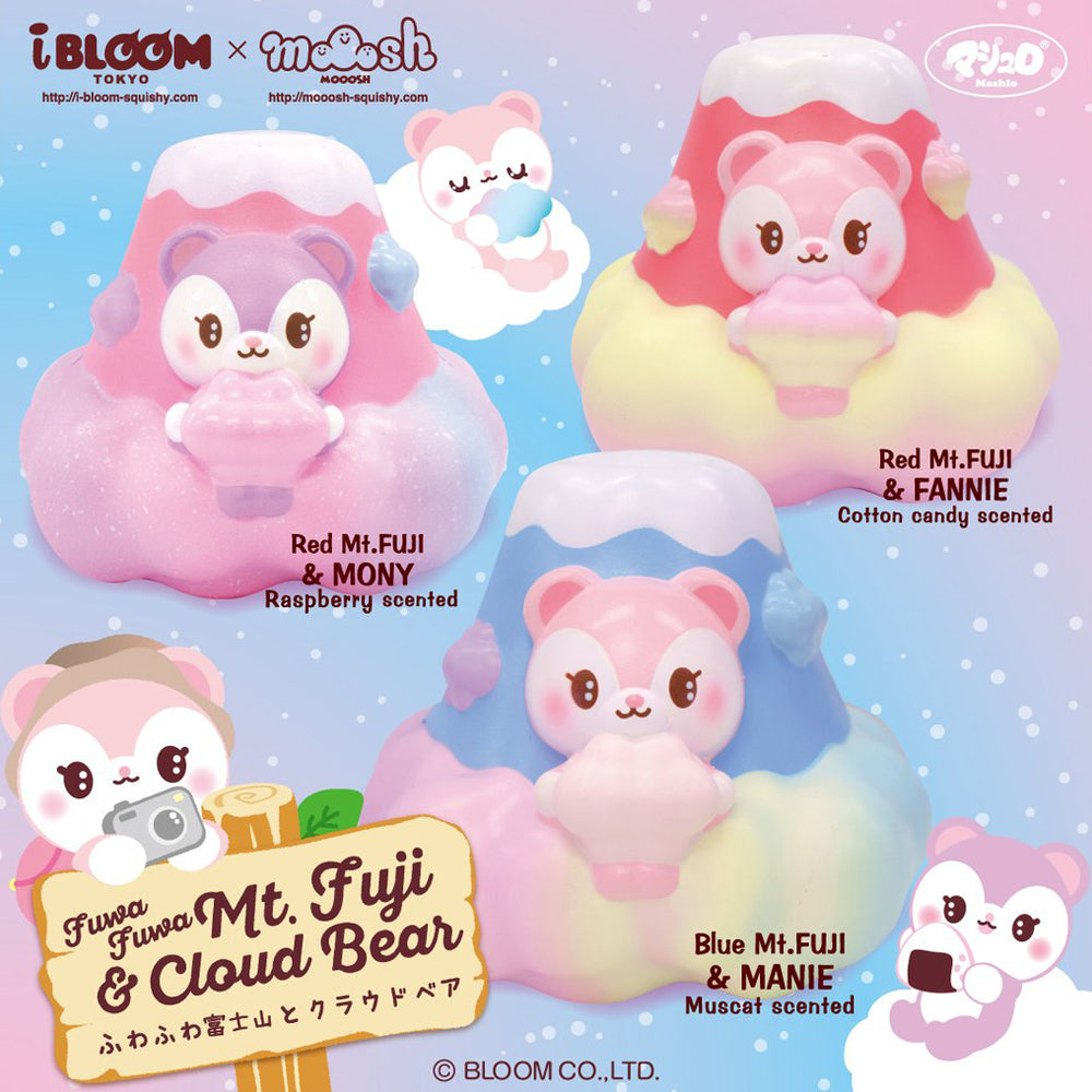 iBloom Mt Fuji Cloud Bear SCENTED Slow Rising Squishy