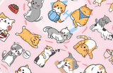 Nekoni Licensed Kitty, Alpaca, Hedgehog and Puppy Stickers