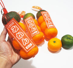 Japan Licensed JUMBO Oranges In Net Bag Squishy, A Bag of 4 Oranges!