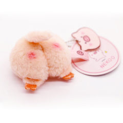 Japan Nekoo Licensed Fluffy Peach Piggy Butt Bag Backpack Charm, Brooch, Key Chain