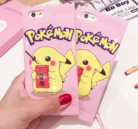 Kawaii Pink Pikachu Candy Themed Phone Case For Iphone