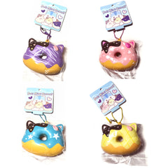 New! PopularBoxes Mini Poli Head Donut Scented Slow Rising Squishy