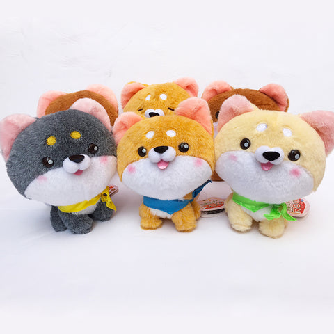 Japan Yell Licensed Shiba Inu & Corgi Puppy Plush, So FLUFFY- 5.5 Inch