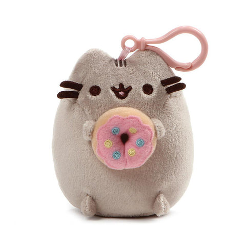 Pusheen Snackable Donut Cat Plush Stuffed Animal Backpack Clip, 5""