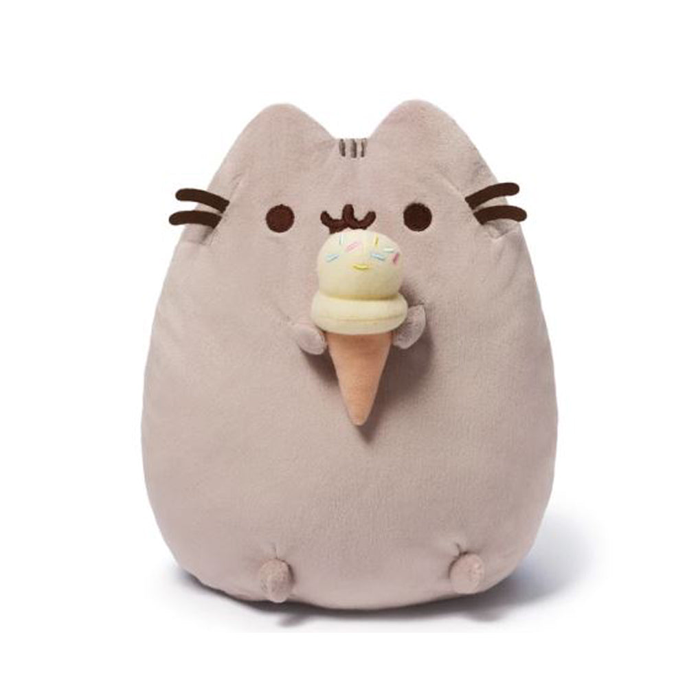 Pusheen Snackable Ice Cream Cone Plush Stuffed Animal Cat, 9.5""
