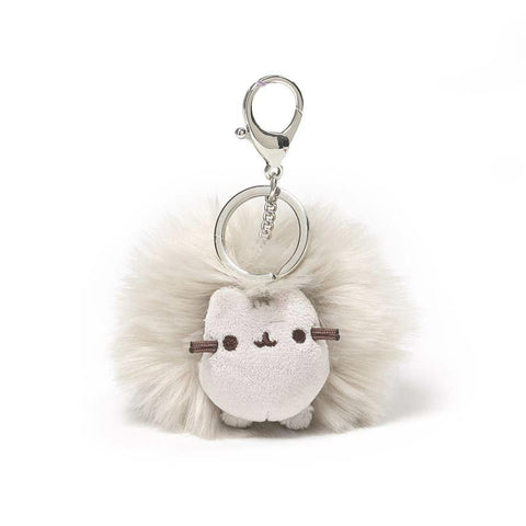 Pusheen Cat Plush Pusheen Pom Poof Keychain, Gray, 4""