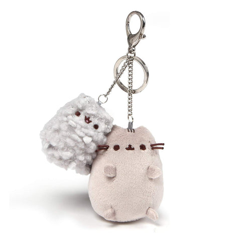 "Pusheen and Stormy Plush Deluxe Keychain Clip, 4.5"", Chubby Cat Plush"