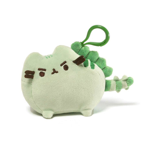 Pusheen Pusheenosaurus Dinosaur Cat Plush Stuffed Animal Backpack Clip, 4.5""