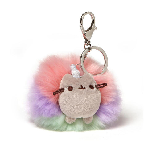 Pusheenicorn Pom Plush Keychain, 4""