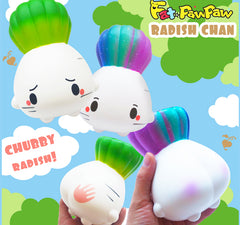 FatPawPaw Licensed JUMBO Chubby Radish Slow Rising Squishy, Limited Stocks!
