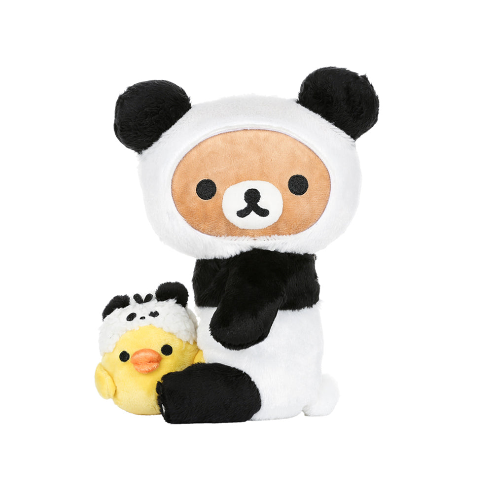 Rilakkuma and Kiiroitori Dressed as Panda Plush By San-X