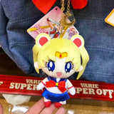 Limited Edition! Sailor Moon Licensed Mascot Plush Charm, Removable Bowknot Key Chain