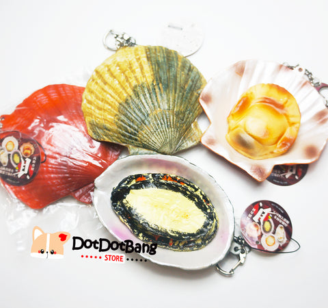 Licensed Japan RARE Scallop Abalone BIG Squishy Charm