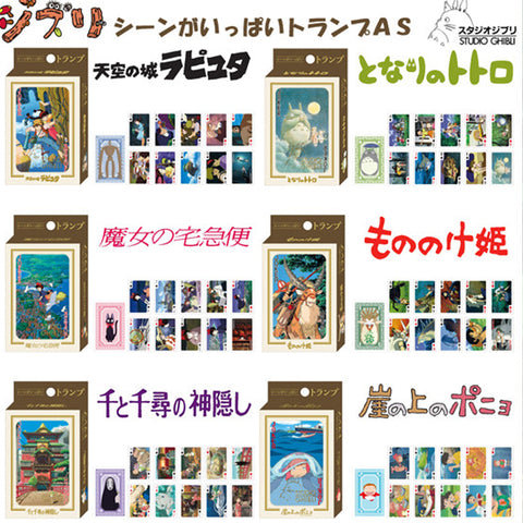 Studio Ghibli Scenes Playing Cards Collectibles