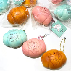 Popularboxes Licensed Poli Hamster and Friend Boli the Bunny SCENTED Shell Bread Squishy Charm