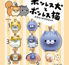 Japan RARE Qualia Licensed Chubby Shiba Inu Puppy and Kitty Squishy Charm