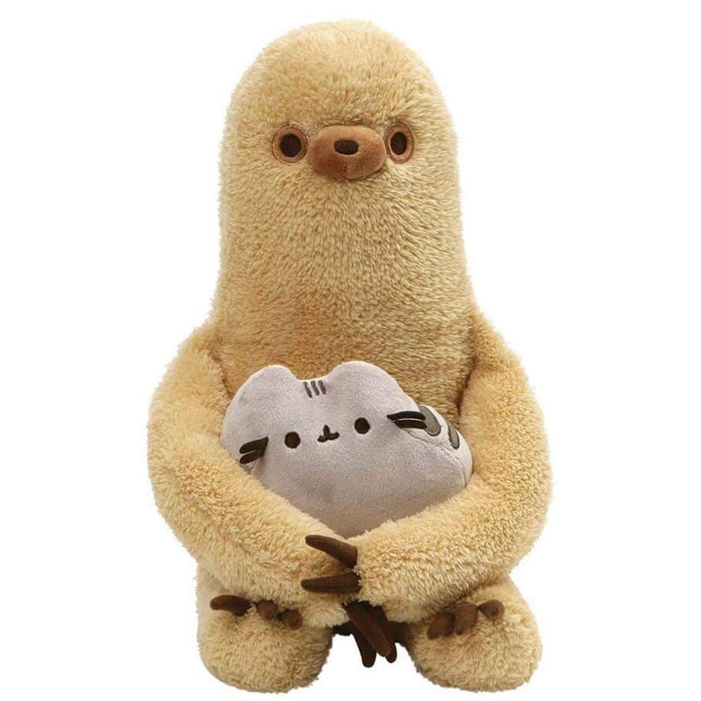Pusheen with Sloth Plush, Set of 2, 13""
